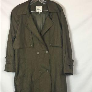 John Weitz Army Green Trench Coat